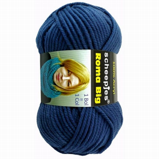 Acrylgaren Roma Big jeansblauw 09