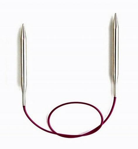 Rondbreinaald 12mm 100cm metaal KnitPro