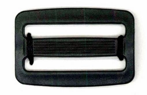 Gesp, nylon, zwart 25 mm.