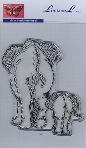 Borduurstempel Olifanten