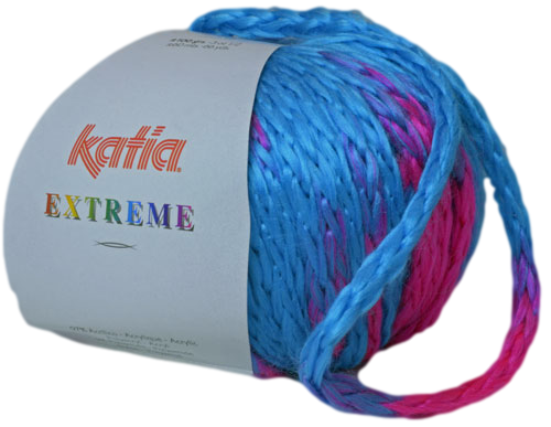 Katia Extreme turquoise - fuchsiaroze 64