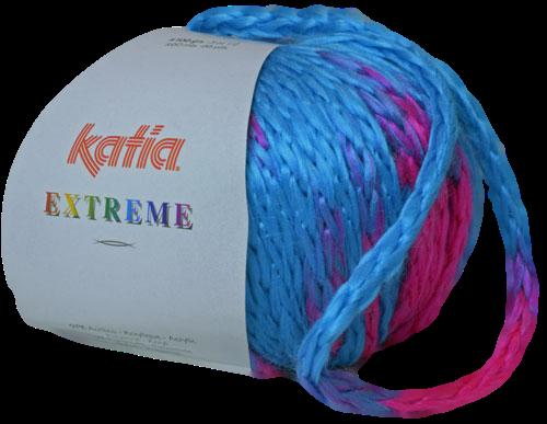 Katia Extreme turquoise - fuchsiaroze 64