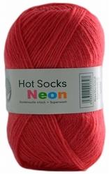 Sokkenwol Hot Socks neon, framboos 81