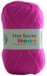 Sokkenwol Hot Socks neon, roze 84