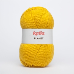 Acrylgaren Planet, donkergeel 4001