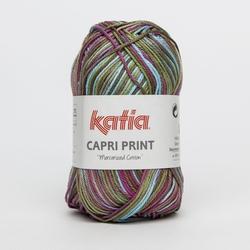 Haakkatoen Capri Print roze turquoise 57