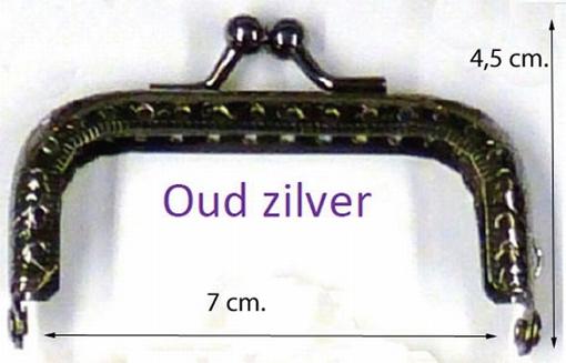 Portemonneesluiting, zilverkleur
