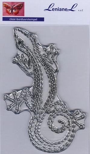Borduurstempel Salamander