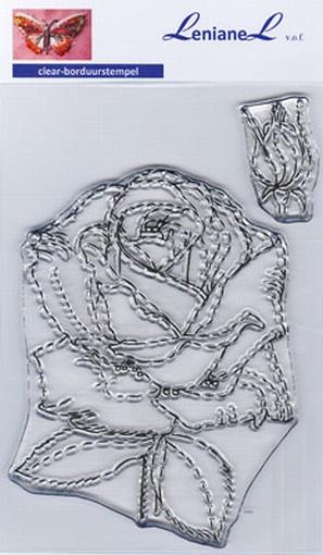 Borduurstempel Roos