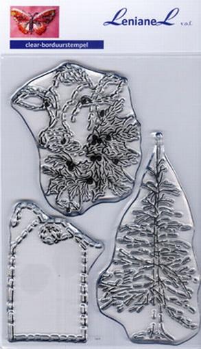 Borduurstempel Kerst Label