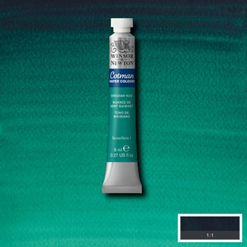 Cotman Water Colour Viridian Hue, tube 8 ml.