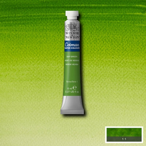 Cotman Water Colour Sap Green, tube 8 ml.
