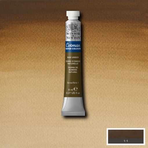 Cotman Water Colour Raw Umber, tube 8 ml.