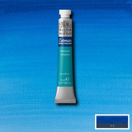 Cotman Water Colour Turquoise, tube 8 ml.