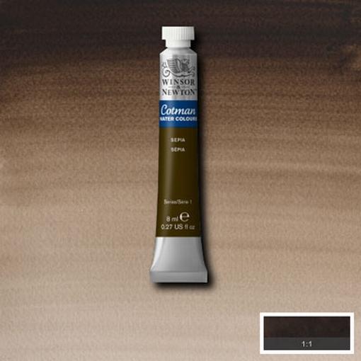 Cotman Water Colour Sepia, tube 8 ml.