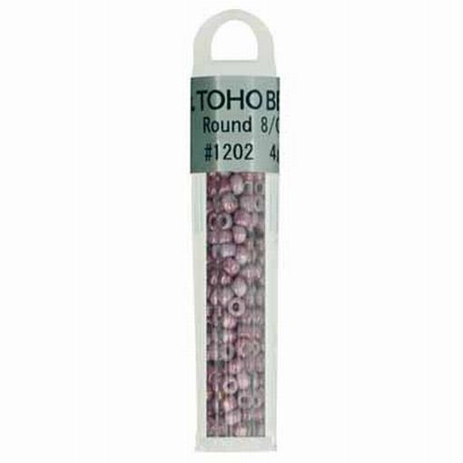 TOHO glaskralen paars roze