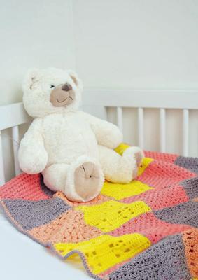 Haakpatroon Kleurrijke babydeken