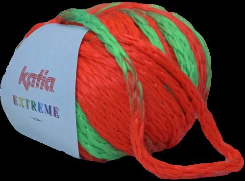 Katia Extreme fluo-oranje - fluogroen 61