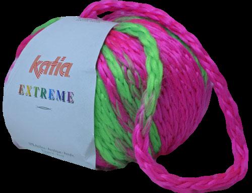 Katia Extreme fuchsiaroze - fluogroen 63
