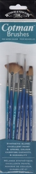 W&N Cotman brushes, set 7 penselen