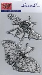 Borduurstempel Hommel-Vlinder