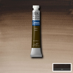 Cotman Water Colour Sepia, tube 8 ml.