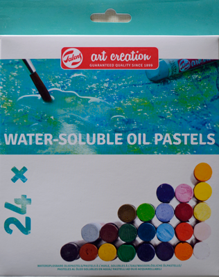 Talens Oliepastel Water Soluble, set 24 kleuren