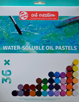 Talens Oliepastel Water Soluble, set 36 kleuren